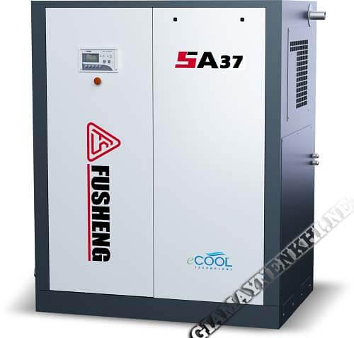 Máy nén khí Fusheng SA37 hoạt động với công suất 50Hp