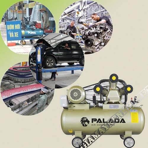Máy nén khí cung cấp khí nén cho bình chứa phục vụ các nghành nghề