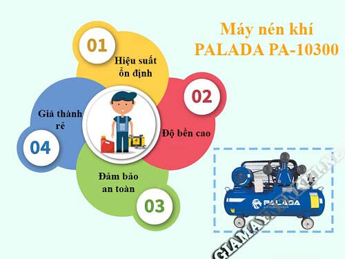 Máy nén khí Palada có nhiều ưu điểm nổi trội