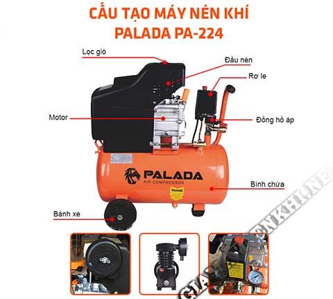 Cấu tạo máy nén khí Palada PA-224