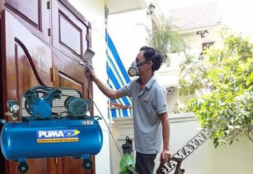 Dung tích bình chứa khí lớn nên được người tiêu dùng sử dụng trong việc phun sơn