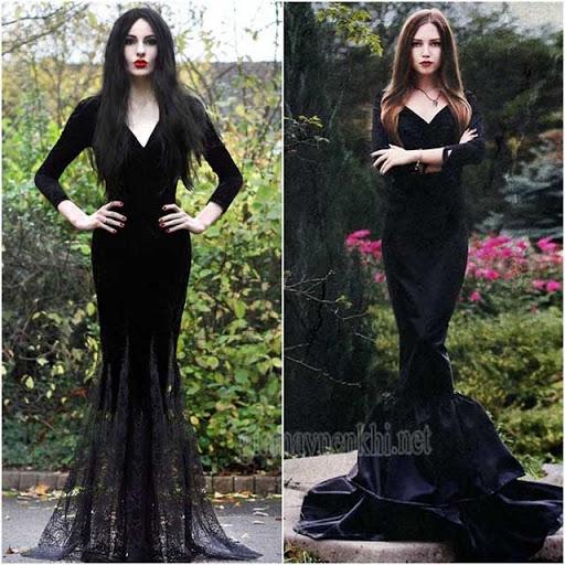 Mặc đầm đen Halloween