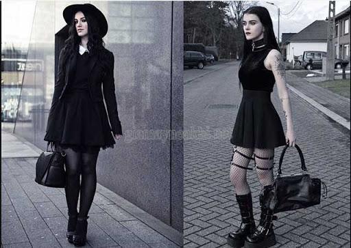 Mặc kiểu Gothic Halloween