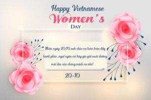 lời chúc 20 tháng 10 dành cho vợ