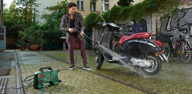 máy bơm nước rửa xe cũ