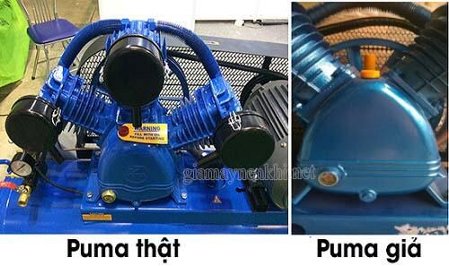 Phân biệt đầu máy nén khí Puma thật với máy nén khí Puma giả