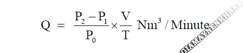 Công thức tính lưu lượng khí máy nén khí