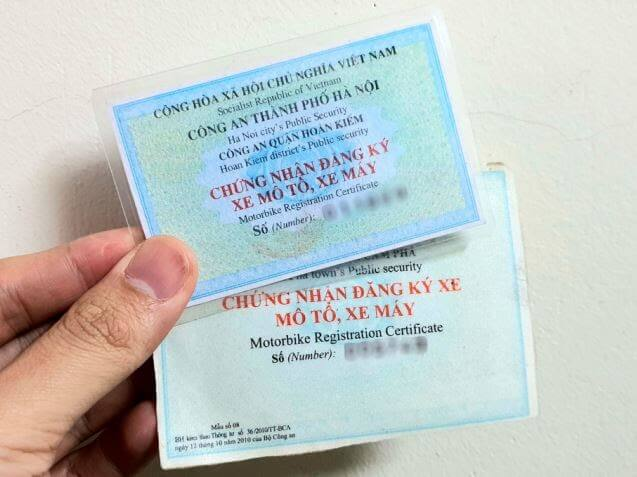 giấy đăng ký xe máy