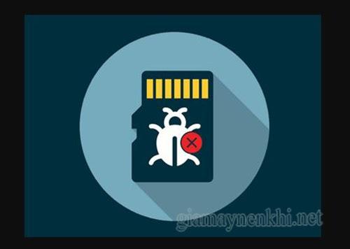 Hình ảnh thẻ nhớ trong điện thoại và máy tính