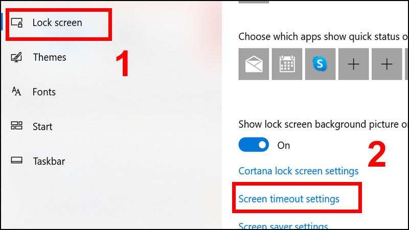 Chỉnh laptop không tắt màn hình