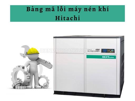 bảng mã lỗi máy nén khí hitachi