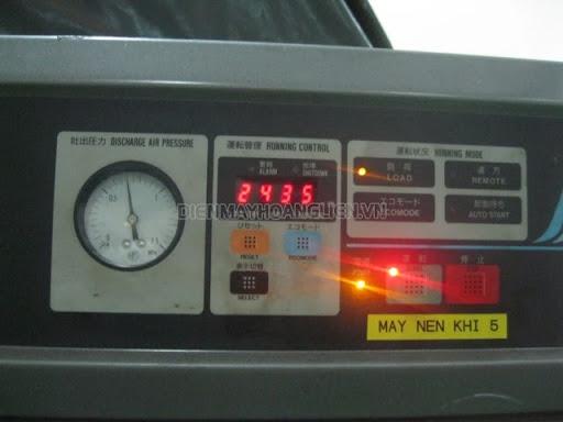 cách chỉnh áp suất máy nén khí hitachi