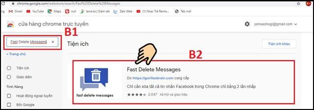 cách xóa tất cả tin nhắn trên messenger