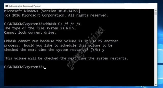 Kiểm tra ổ đĩa để Fix lỗi BSOD