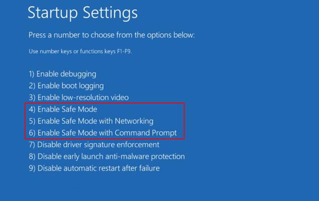 Bật chế độ Safe Mode Windows 10 để fix lỗi màn hình xanh
