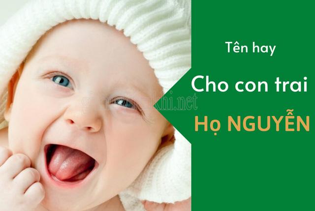 Tên cho bé trai họ Nguyễn