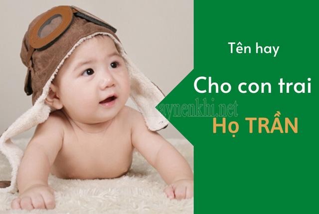 Tên hay cho bé trai họ Trần